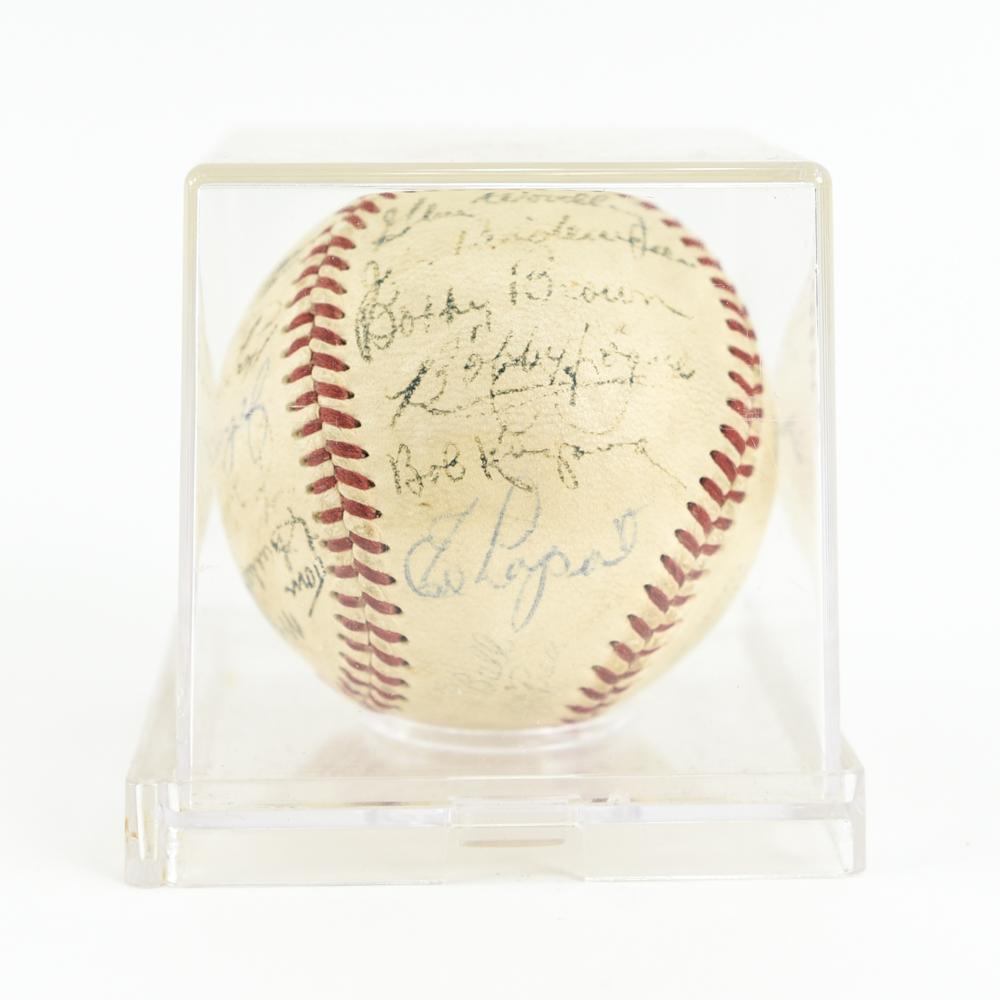MICKEY MANTLE AND MORE SIGNED BASEBALL