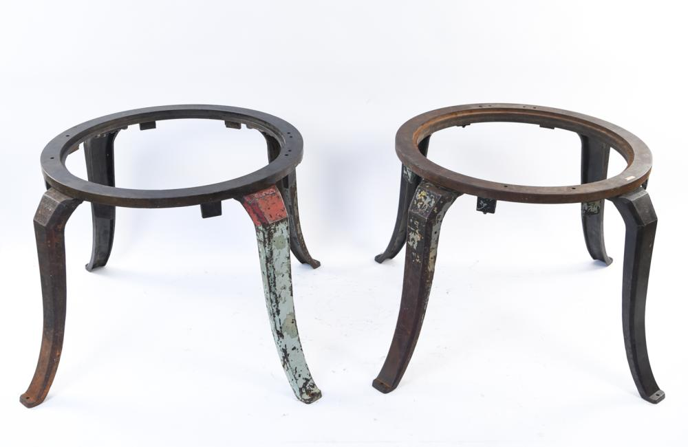 (2) LARGE CAST IRON INDUSTRIAL TABLE BASES
