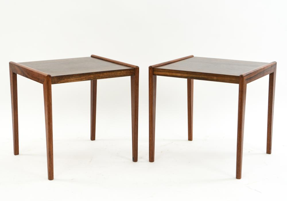 PAIR OF BRDR FURBO DANISH ROSEWOOD SIDE TABLES