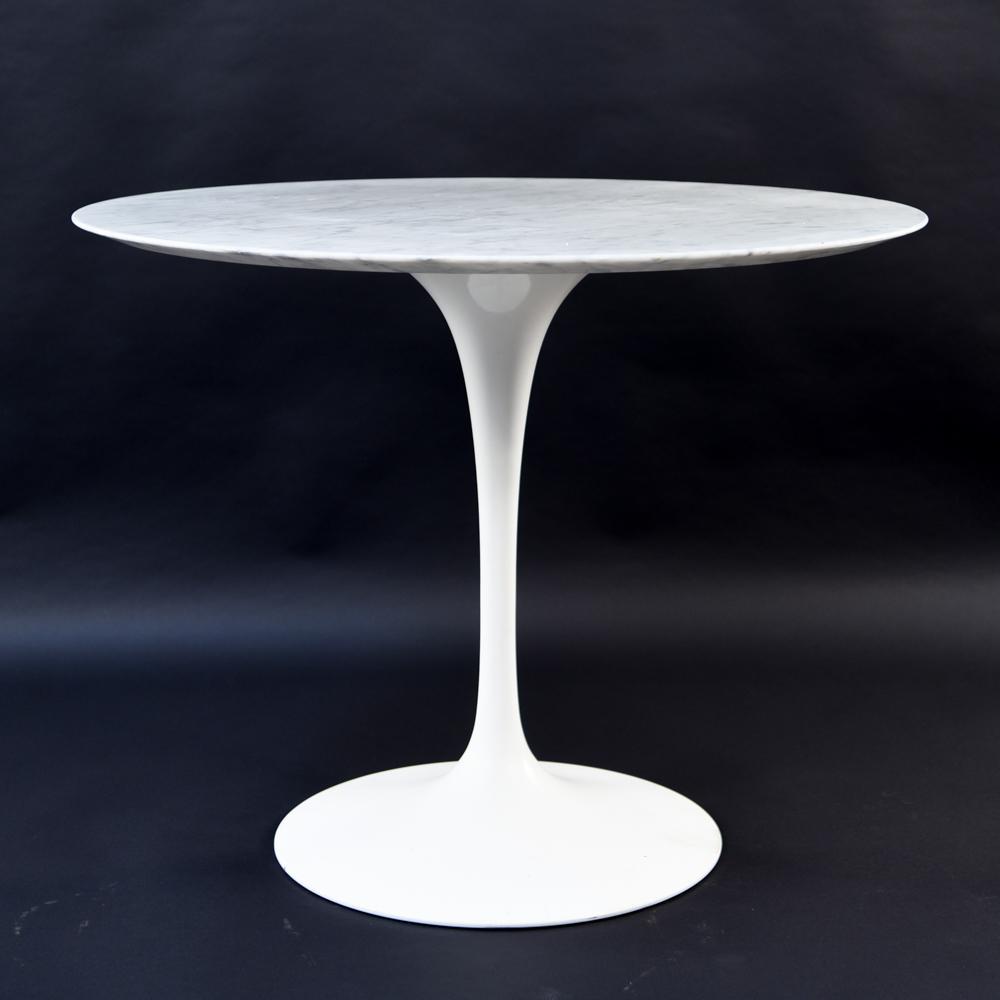 KNOLL STUDIOS MARBLE TOP TULIP TABLE