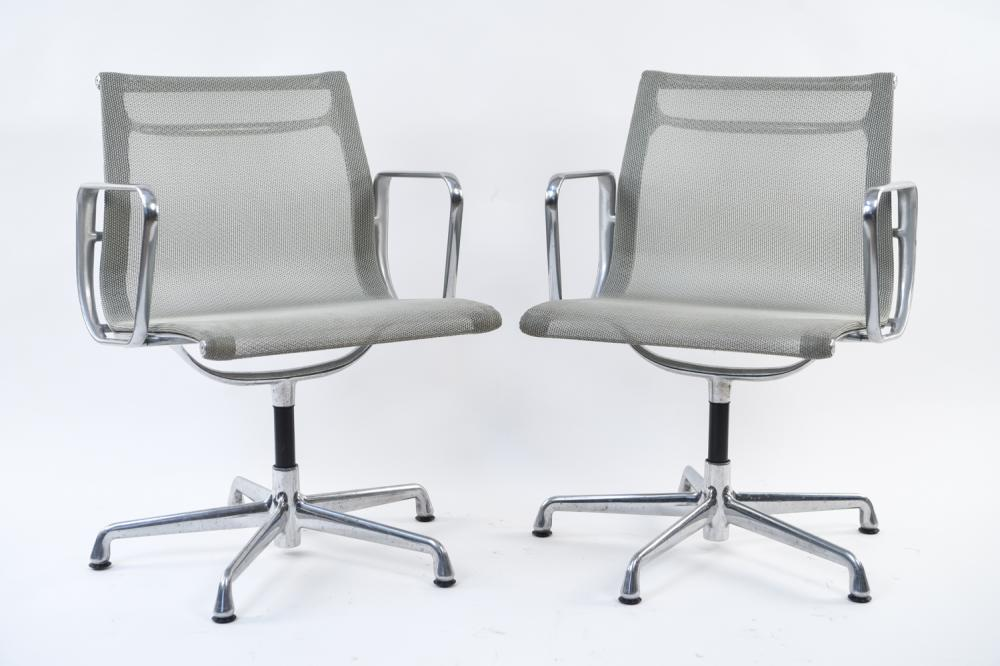 PAIR OF EAMES MESH CHAIRS
