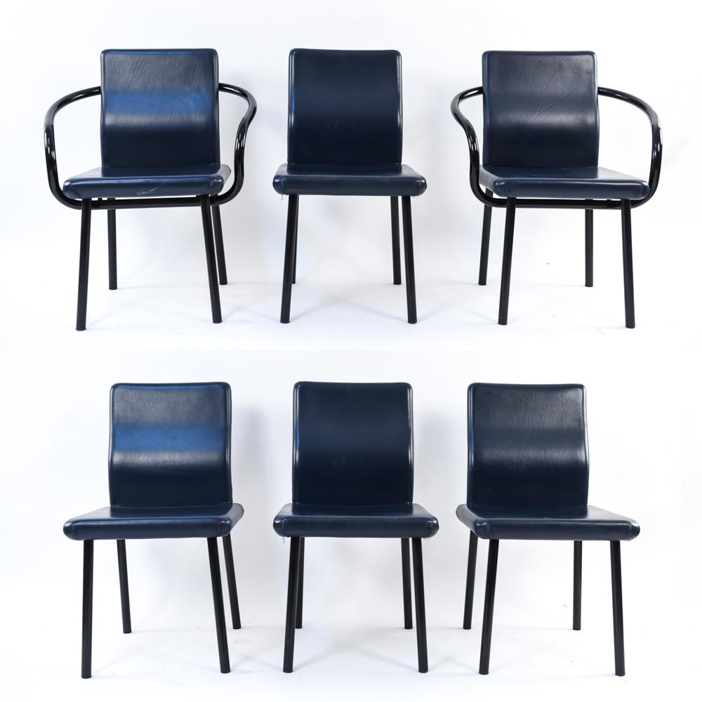 (6) DINING CHAIRS BY ETTORE SOTTSASS FOR KNOLL