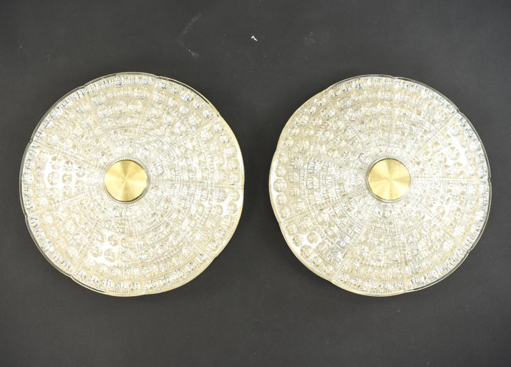 (2) CARL FAGERLUND FOR ORREFORS CEILING LAMPS