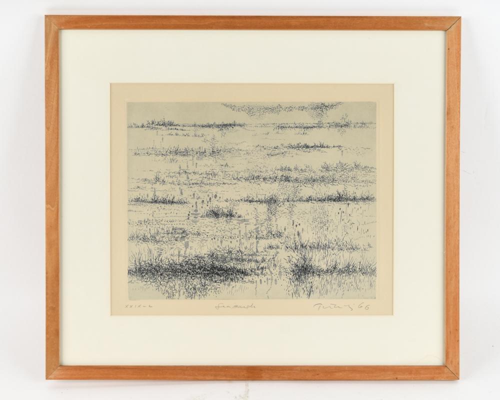 "GABOR PETERDI (1915-2001) ""MARSHES IN WINTER"""