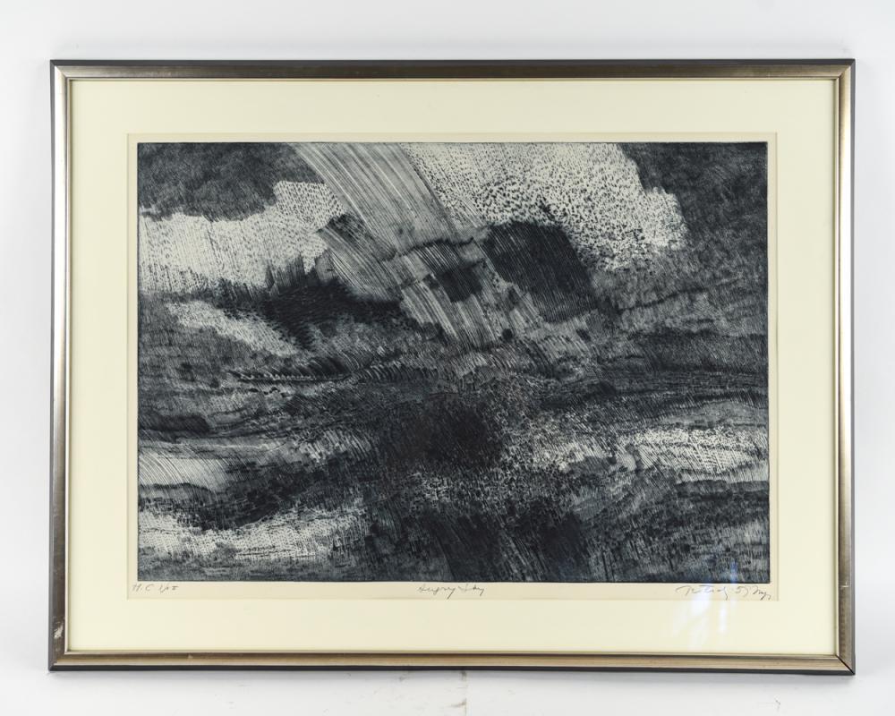 "GABOR PETERDI (1915-2001) ""ANGRY SKY"""