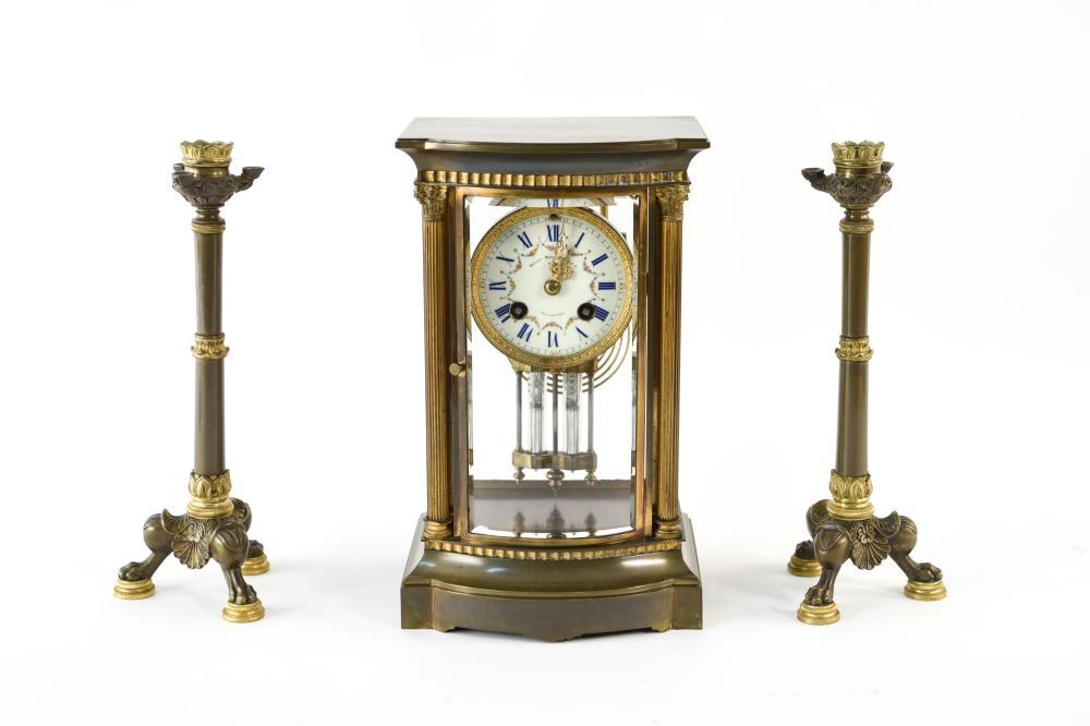Bailey Banks Biddle Mantel Clock Candle Sticks