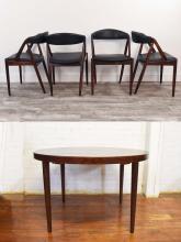 KAI KRISTIANSEN DANISH DINING TABLE & CHAIRS