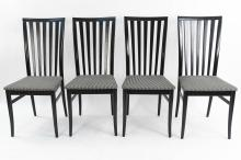 (4) ITALIAN WOODEN DINING CHAIRS