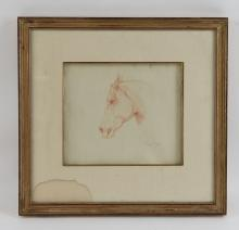 LAYNE 1985 HORSE DRAWING