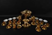 ROYAL WORCESTER GOLD GILT PORCELAIN GROUPING