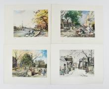 (4) RENE ZIMMERMAN (FRENCH 1904-1991)PRINTS