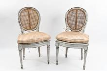 PAIR OF FRENCH COUNTRY CANED SIDE CHAIRS