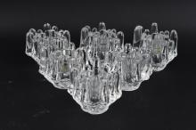 TAPIO WIRKKALA SCANDINAVIAN GLASS CANDLE HOLDERS