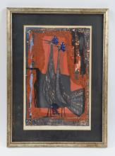 TAMAMI SHIMA (JAPAN 1937-1999) WOODBLOCK