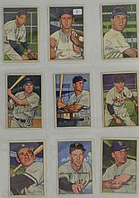 1952 Bowman Baseball 9 Card Lot w. Early Wynn