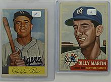 1953 Topps Billy Martin & 1954B Pee Wee Reese