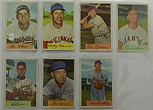 1954 Bowman 7 Card Lot with Ned Garver