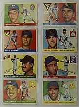 1955 Topps 8 Card Lot w. Warren Spahn