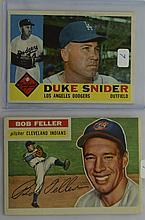 1956 Topps Bob Feller #200 & 1960 Topps D. Snider