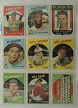 1959 Topps 9 Card Lot w. Early Wynn & C. Flood