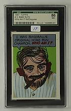1969 Topps Babe Ruth (Who am I?) #12 SGC 7.5 NM+