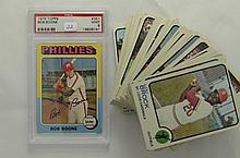 1973 Topps 83 Card Lot & 1975 Topps Boone PSA 9