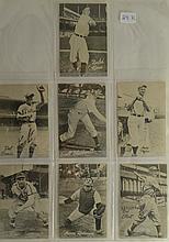 Vintage c.1940s/50s Square Corner Bread Baseball 7 Card Lot