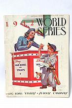 1942 Yankees vs Cardinals World Series Program