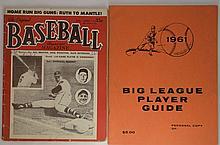 Baseball Magazine July '53 & '61 Big League Guide