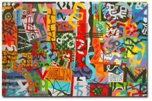 Taffeti Graffiti, Quilt Work by Bethan Ash