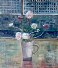 Ranunculus in Mug by Ruth Addinall