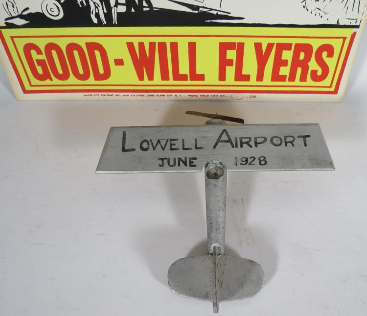 Sold Price: LOWELL AIRPORT OPENING 1928 AIRPLANE & AIR
