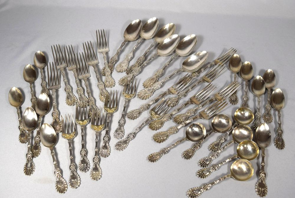 WHITING STERLING FLATWARE PARTIAL SERVICE FOR SIX: