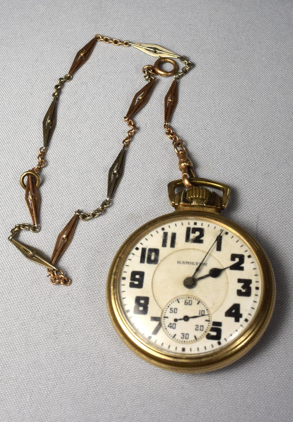HAMILTON POCKET WATCH:
