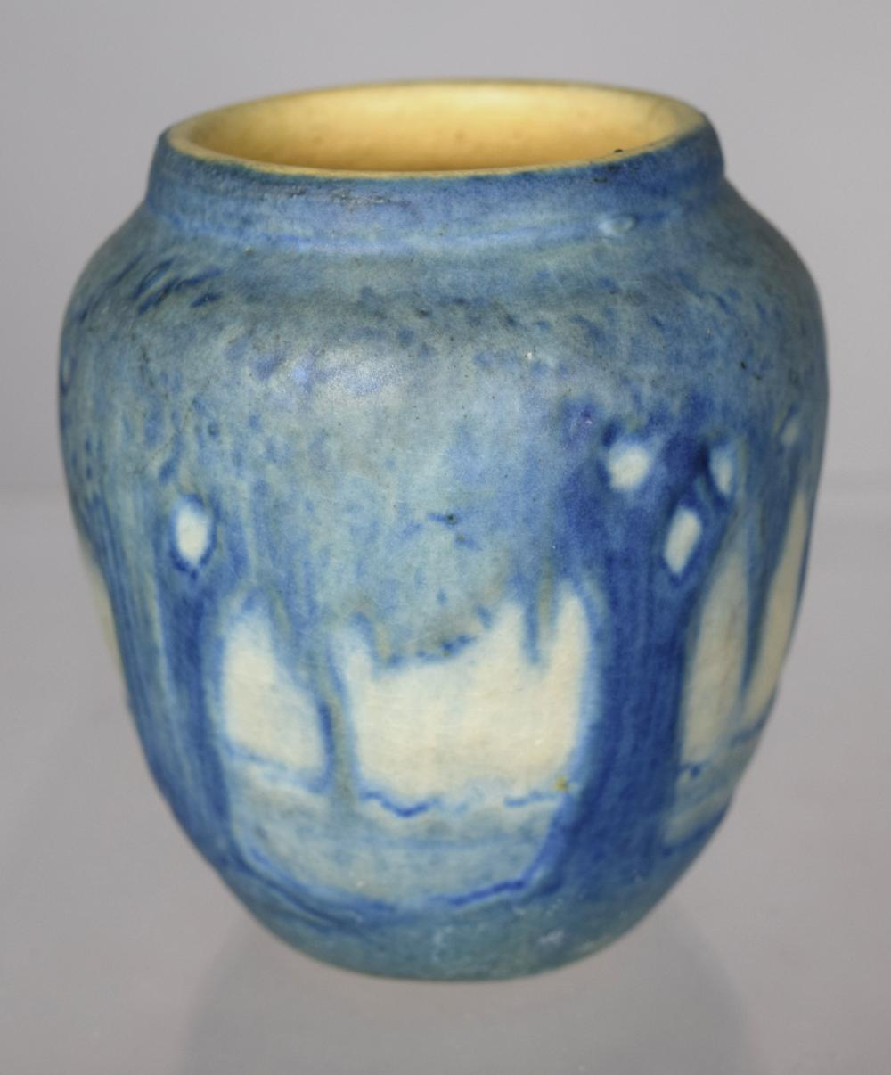 MINIATURE NEWCOMB COLLEGE POTTERY VASE: