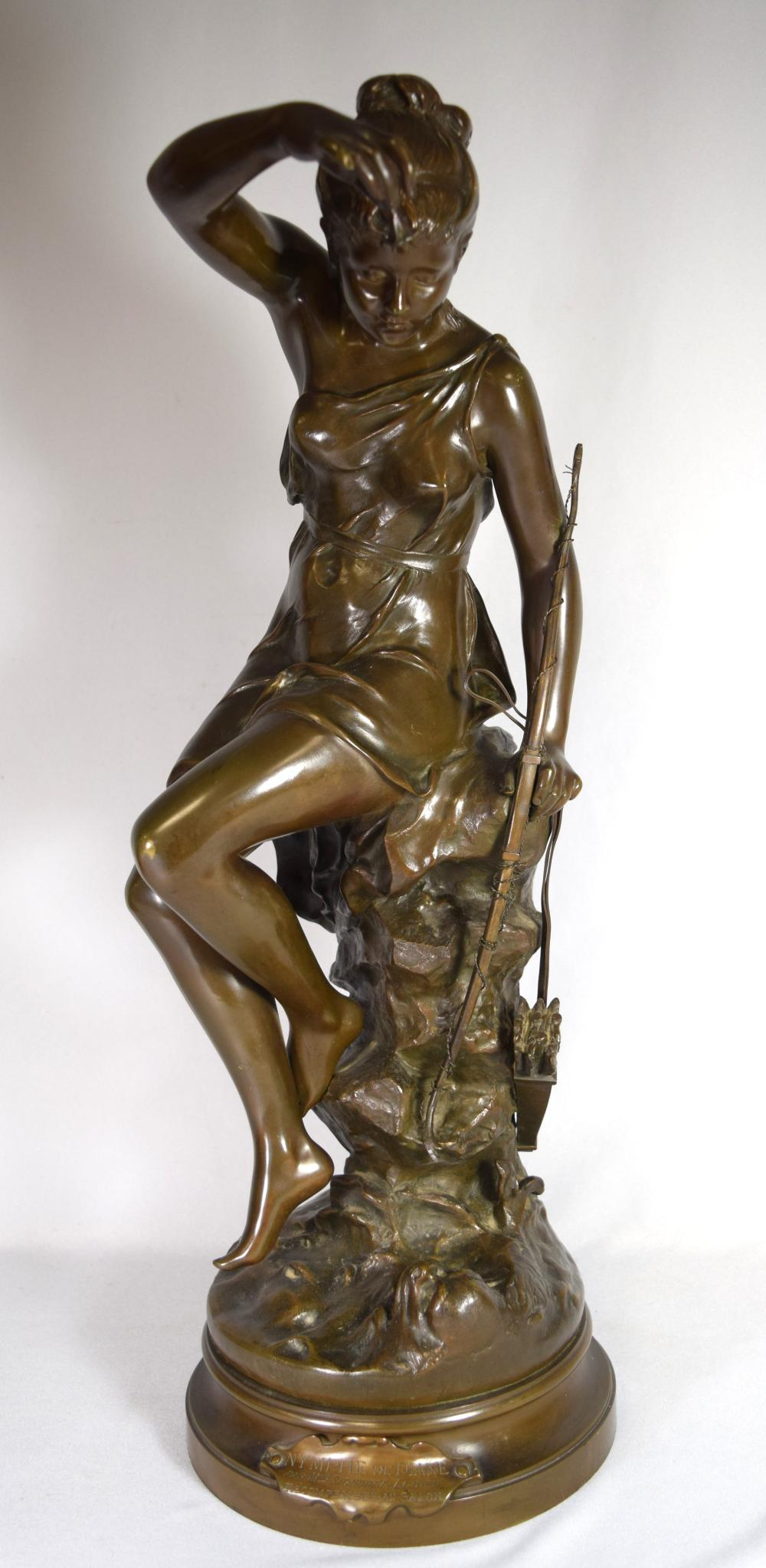 LATE 19TH C LUCIE SIGNORET-LEDIEU FRENCH BRONZE: