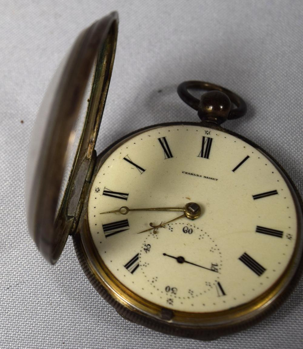 COIN SILVER CHARLES MAIRET SWISS POCKET WATCH: