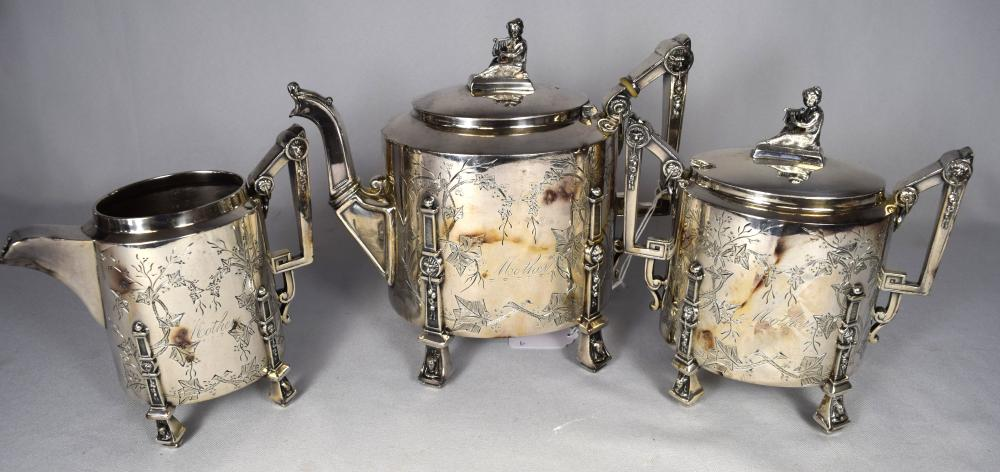 REED & BURTON SILVERPLATE TEASET:
