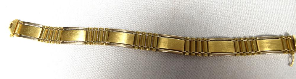 14KT YELLOW GOLD MAN'S LINK BRACELET: