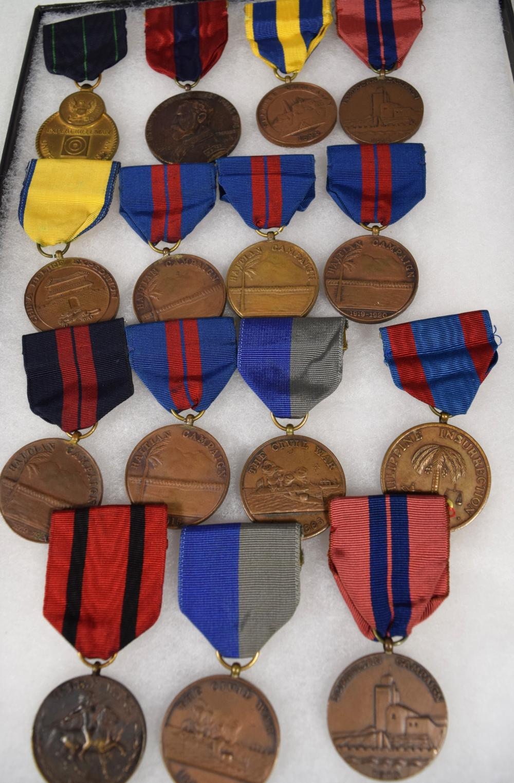 SPANISH AMERICAN WAR & OTHER CAMPAIGNS MILITARY MEDALS: