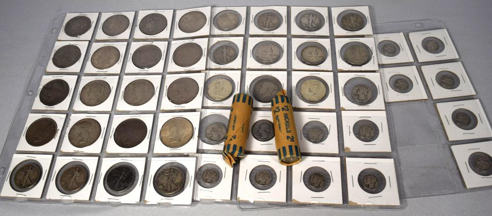 US SILVER COINS & BUFFALO NICKELS: