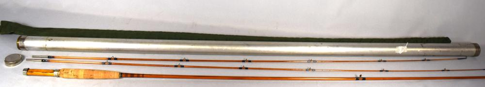 BAMBOO FISHING ROD by THOMAS OF BANGOR MAINE: