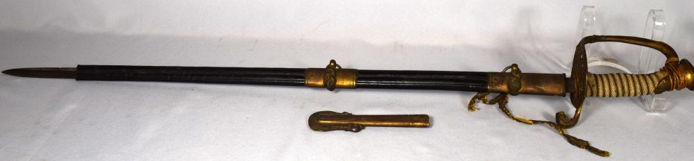 USN SPAINISH AMERICAN WAR NAVEL SWORD: