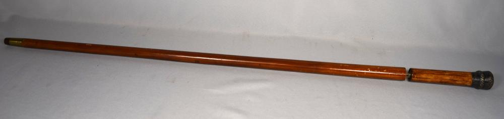 19TH C TOLEDO SWORD CANE: