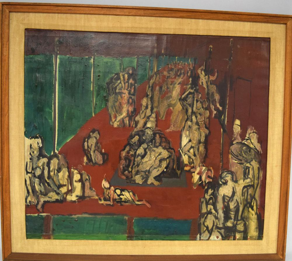 FELIKS TOPOLSKI ABSTRACT OIL PAINTING: