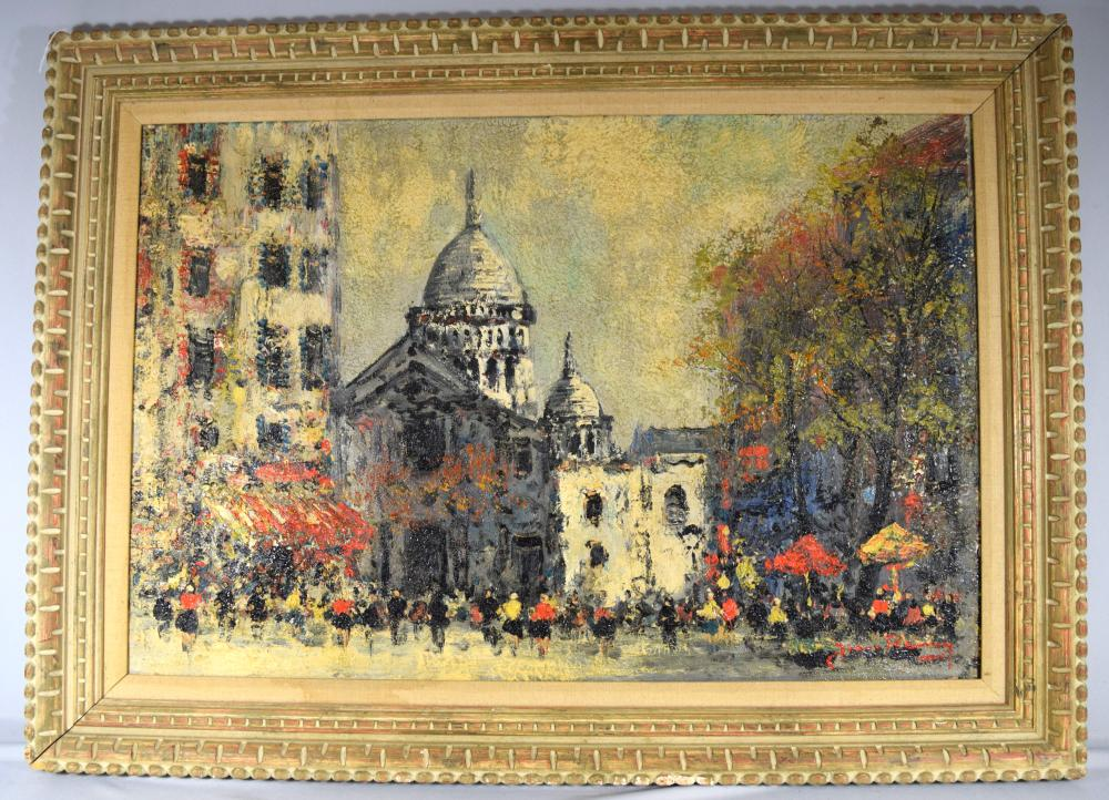 JEAN REMY PARIS STREET SCENE OIL PAINTING: