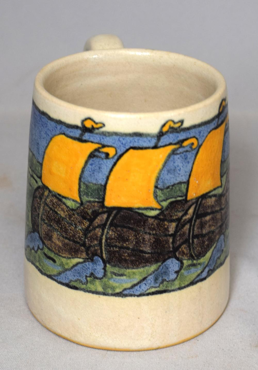 SATURDAY EVENING GIRLS SEG ART POTTERY MUG: