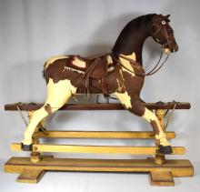 ANTIQUE CHILD?S ROCKING HORSE RIDING TOY