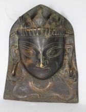 BRASS OR BRONZE INDIAN MOHRA OR DEVI: