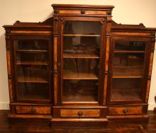 AMERICAN VICTORIAN TRIPLE DOOR BOOKCASE